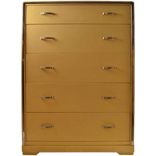 Five-Drawer High Boy Chest Designed by Norman Bel Geddes for Simmons Furniture For Sale