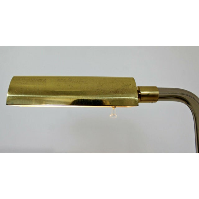 Mid-Century Modern Mid Century Modern Peter Hamburger Kovacs Crylicord Lucite Brass Floor Lamp 70s For Sale - Image 3 of 8