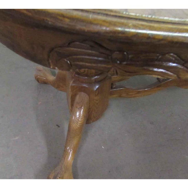 High Gloss Wooden Dining Table For Sale - Image 6 of 10