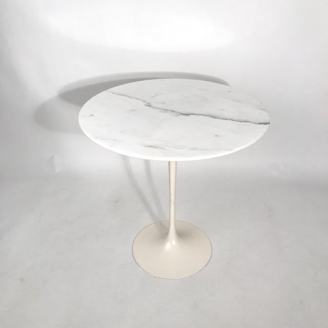 1960s Saarinen Round Marble Side Table For Sale - Image 5 of 5