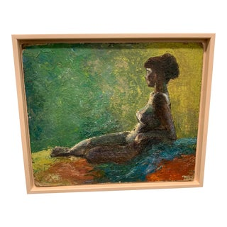 1960s Vintage Female Figurative Painting For Sale