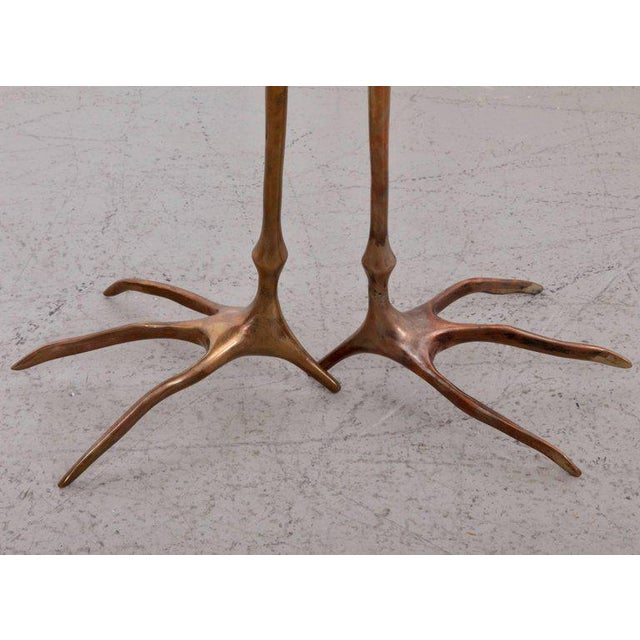 Early Bronze and Gold Leaf Wood Traccia Coffee Table by Meret Oppenheim - Image 3 of 6