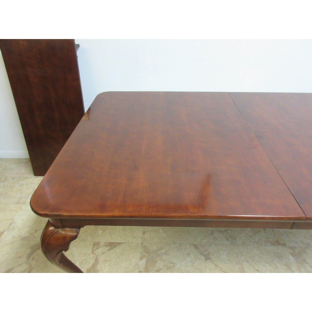 Henredon Cherry Ball Claw Chippendale Banquet Dining Table For Sale In Philadelphia - Image 6 of 11