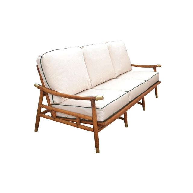 Boho Chic 1950s Vintage John Wisner for Ficks Reed Sofa For Sale - Image 3 of 10