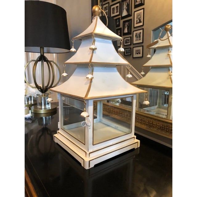 Chinoiserie Metal Pagoda Style Lantern For Sale In Chicago - Image 6 of 8