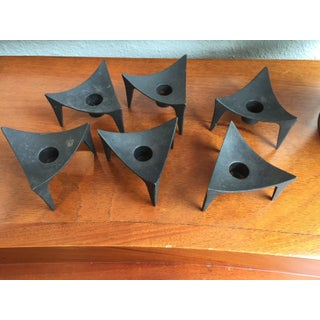 Dansk Iron Triangle Candle Holders - Set of Six Preview