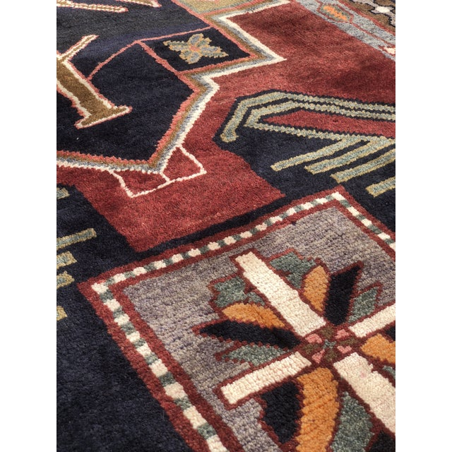 "1950s Art Deco Persian Meshkin Wool Runner - 3'8""x11'7"" For Sale In Atlanta - Image 6 of 13"