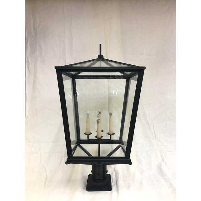 Metal E. F. Chapman Darlana Bronze Post Lantern by Visual Comfort and Co. For Sale - Image 7 of 7