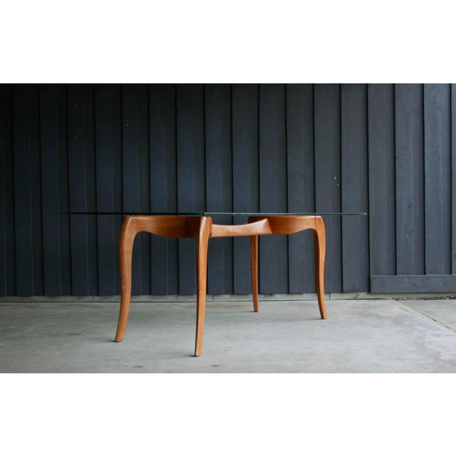 Danish Modern Anthropomorphic Carved Hardwood Dining Table For Sale - Image 13 of 13