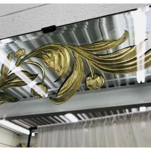 Antique Art Deco Gold Foil Mirror For Sale - Image 10 of 13