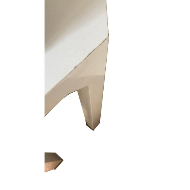 Cream Mid-Century Cream Octagon Shaped Side Tables - a Pair For Sale - Image 8 of 10