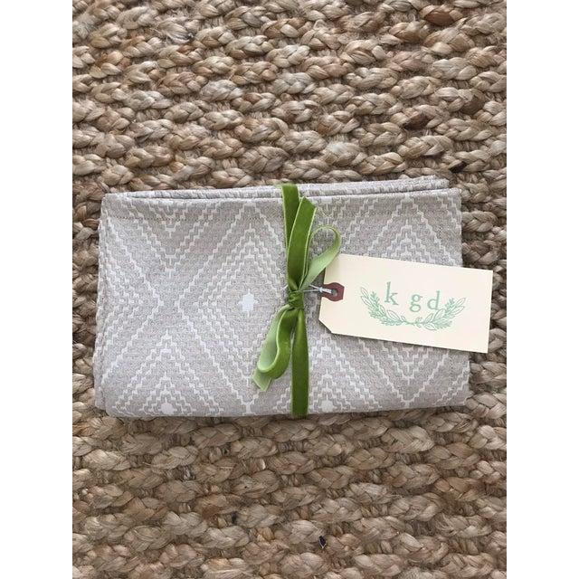 Fabric Light Green Cut Velvet Pillows - A Pair For Sale - Image 7 of 7