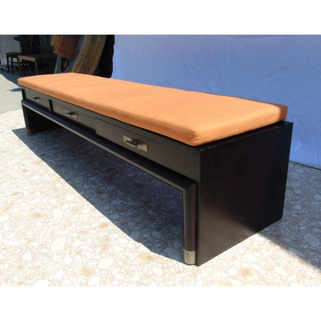 3-Drawer Coffee Table/Bench With Cushion - Image 7 of 11