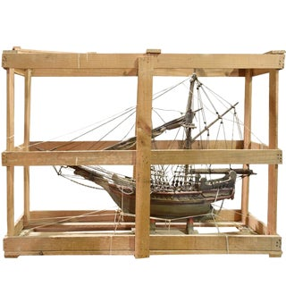 French Handmade Model Ship