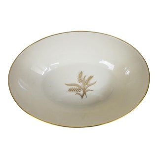 1960s Lenox China Wheat Pattern Oval Serving Dish For Sale