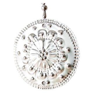 Hanging Aluminum Circle Ornament For Sale