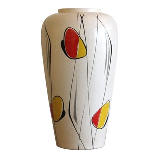 1950's Vintage West German Scheurich Ceramic Vase For Sale