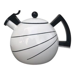 Vintage Sam Lebowitz Copco Enamel Teapot For Sale