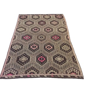 "Vintage Turkish Kilim - 5'9""x9'1"" For Sale"
