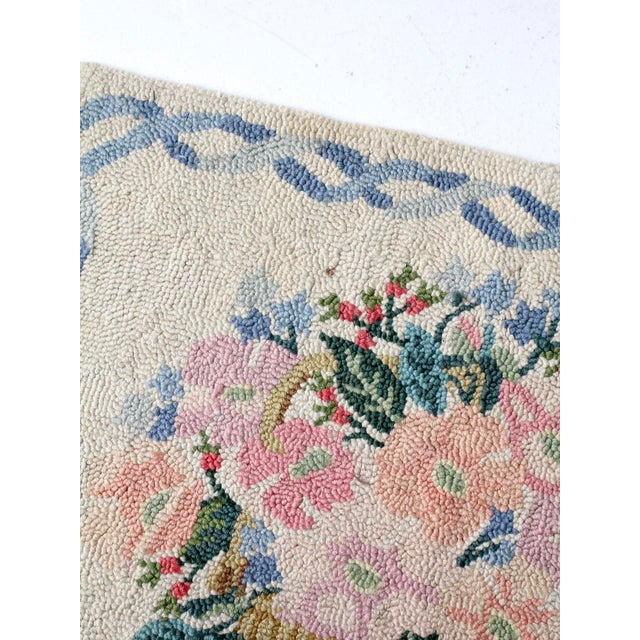 Early 20th Century Vintage Hooked Rug For Sale - Image 5 of 8