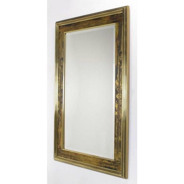 Pair of Mastercraft Bernhard Rohne Acid-Etched Frame Beveled Mirrors - Image 3 of 8