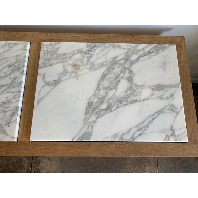 Traditional Sofa Console with Marble Top For Sale In Los Angeles - Image 6 of 10