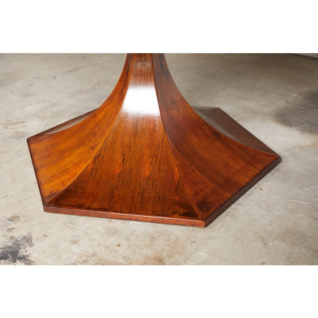 Italian Round Pedestal Dining Table of Palisander Wood For Sale - Image 11 of 12