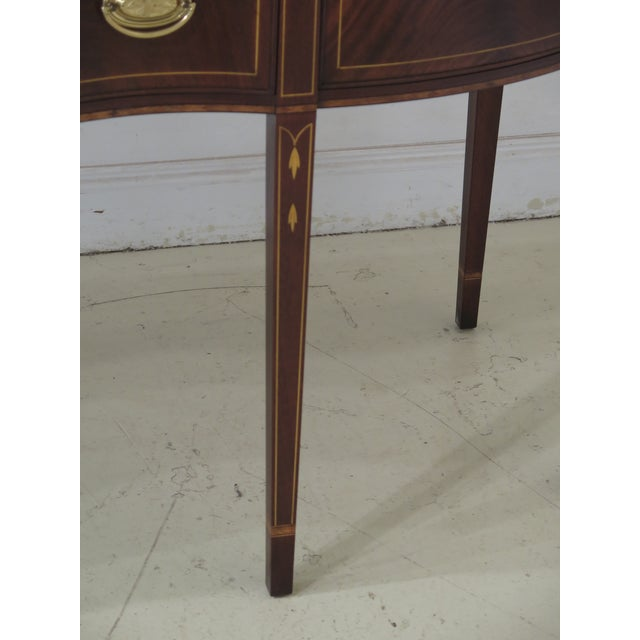 Traditional 1980s Vintage Henkel Harris Mahogany 2367a Inlaid Sideboard For Sale - Image 3 of 13