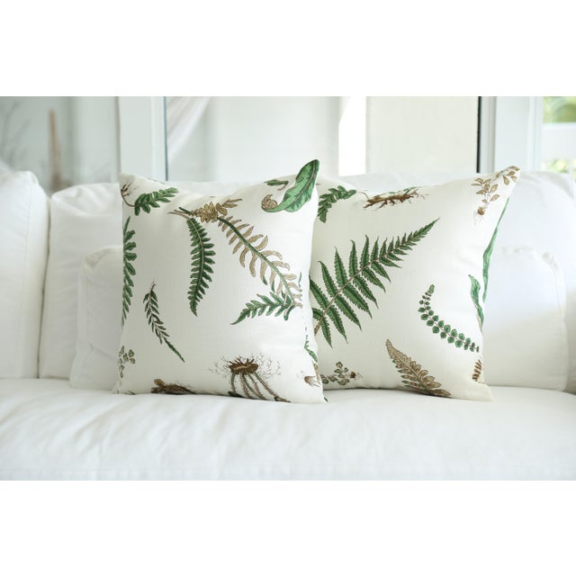 Stensöta (Fern) Textile Pillows - a Pair 18 X 18 For Sale - Image 4 of 6