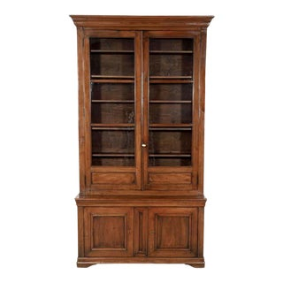 Monumental French Louis Philippe Period Lyonnaise Bibliotheque or Bookcase For Sale