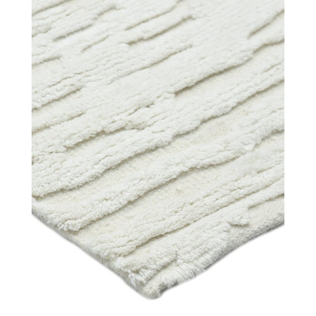 Textile Cheyenne, Contemporary Modern Hand Knotted Area Rug, Ivory, 5 X 8 For Sale - Image 7 of 10