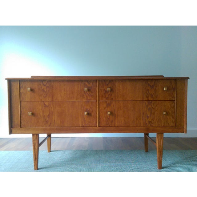 Oak Credenza with Custom Square Pulls - Image 5 of 10