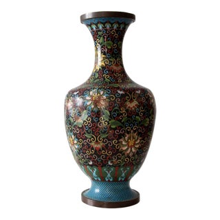 Antique Cloisonne Bottomless Vase