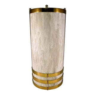 1990s Baldinger Architectural Lighting Half Cylinder Sconce For Sale