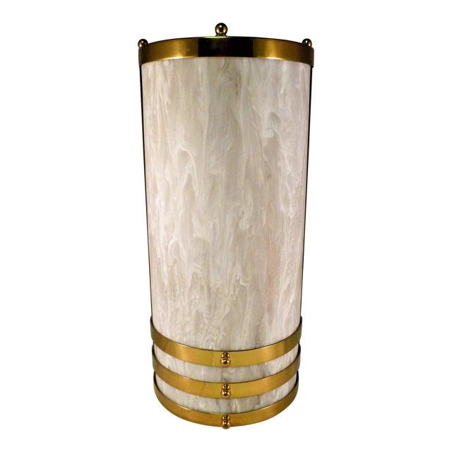1990s Baldinger Architectural Lighting Half Cylinder Sconce For Sale