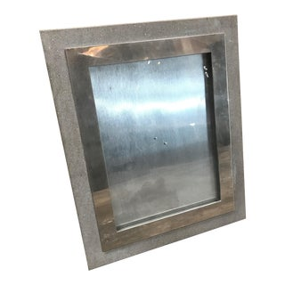 1970s Vintage Italian Mid Century Photo Frame in Steel and Concrete For Sale
