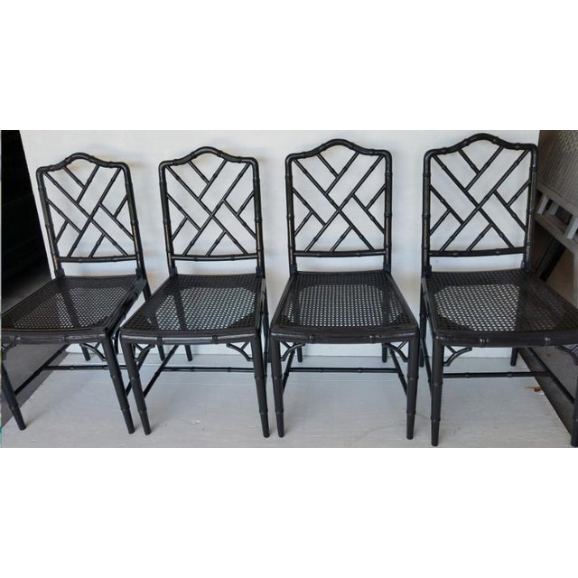 Vintage Wood Chippendale Chairs - Set of 6 For Sale In West Palm - Image 6 of 7