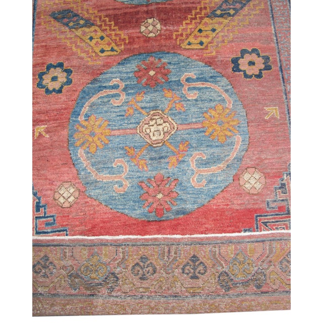 Traditional Khotan Woven Carpet For Sale - Image 3 of 4