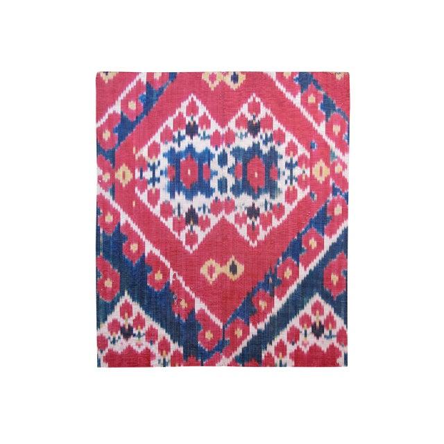 Uzbek Silk Ikat Fragment For Sale