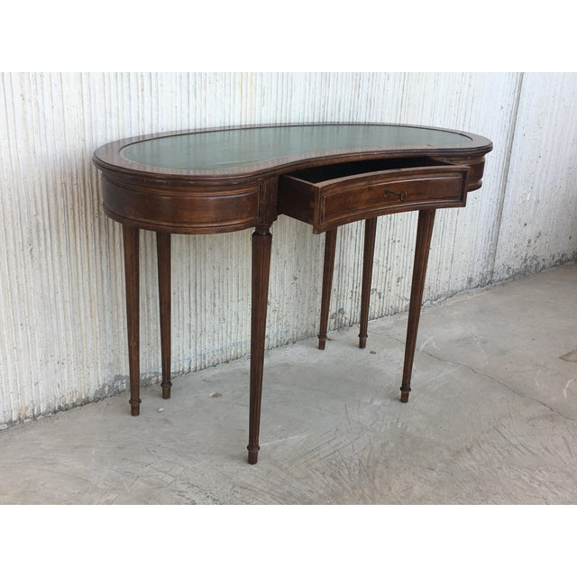 Coromandel and Marquetry Inlaid Victorian Period Kidney Lady Desk For Sale - Image 12 of 13
