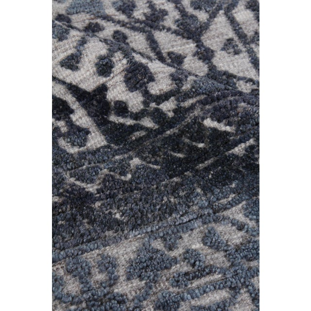 Not Yet Made - Made To Order Buckingham Navy Blue Hand knotted Wool Area Rug - 6'x9' For Sale - Image 5 of 9