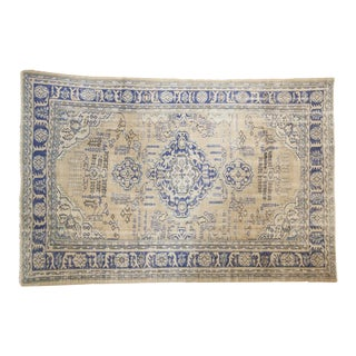 "Vintage Distressed Oushak Carpet - 6'3"" X 9'2"""