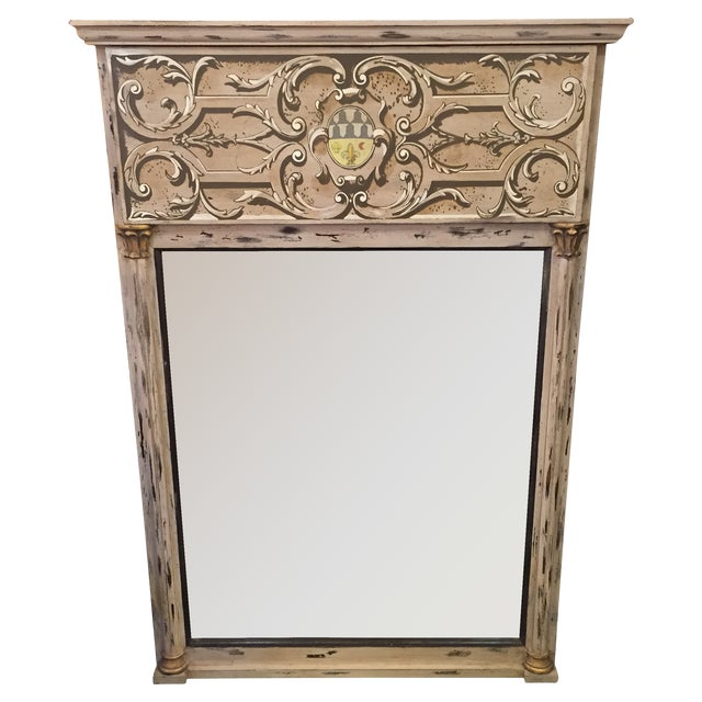 Toile Painted Wall Mirror - Image 1 of 7