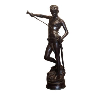 Antonin Mercie - David With the Head of Goliath -Bronze Sculpture For Sale