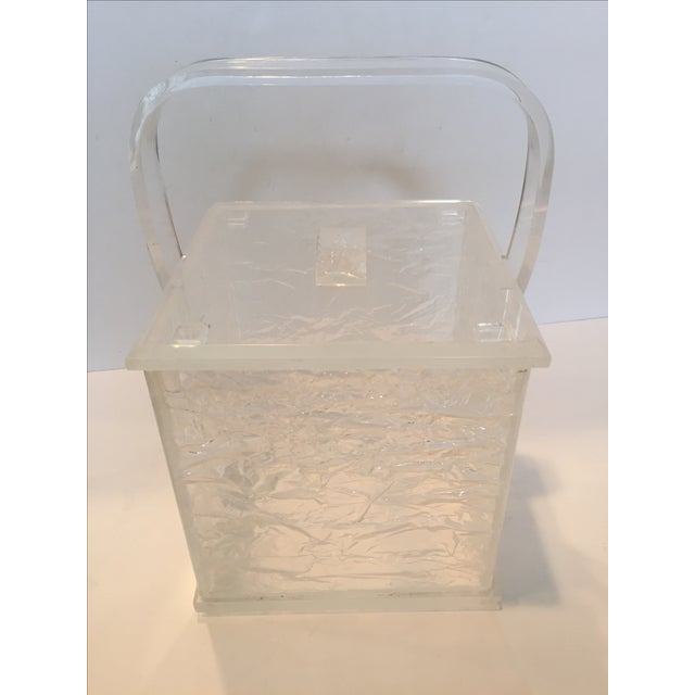 Lucite Chopped Ice Deisgn Ice Bucket - Image 7 of 7