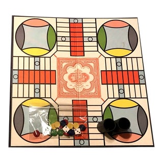 Vintage Mint Condition Parcheesi Board Game – the Backgammon of India For Sale