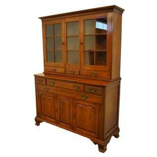 Willett Furniture Solid Wildwood Cherry Colonial Style China Cabinet Preview