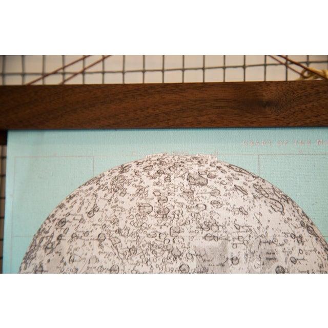 Aqua Mini Moon Chart Art Print - Image 4 of 6