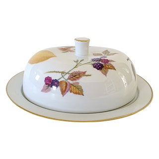 Royal Worcester Evesham Covered Butter/Cheese Dish For Sale