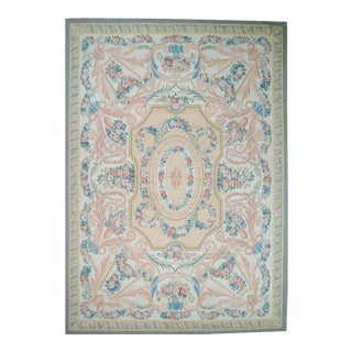 "Pasargad Aubusson Hand-Woven Wool Rug- 8' X 10' 2"" For Sale"
